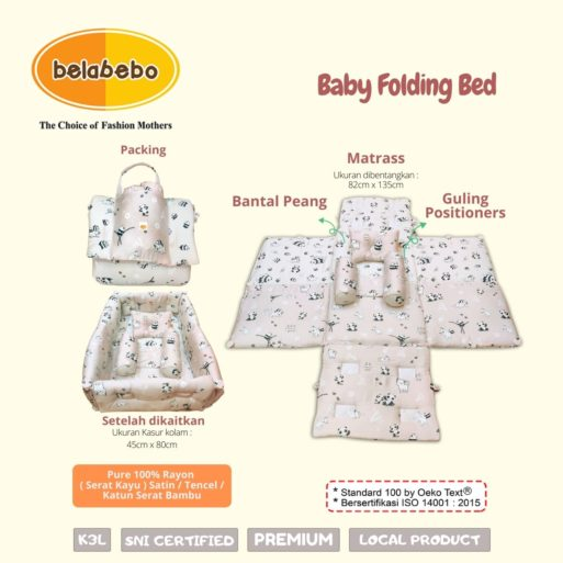 Baby Folding Bed Ukuran Belabebo
