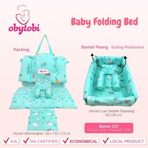 Baby Folding Bed Ukuran Obytobi