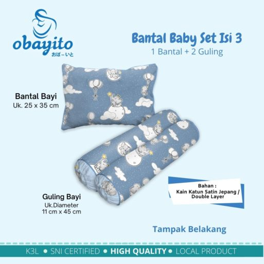 Bantal Baby Set Isi 3