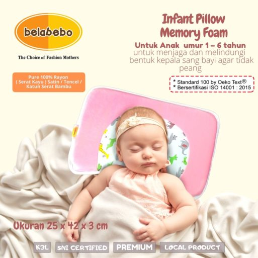 Inflant Pillow Memory Foam Belabebo