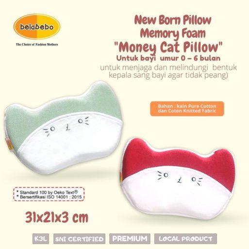 New Born Pillow Money Cat Pillow Ukuran Belabebo