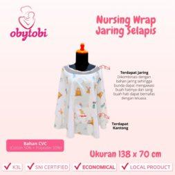 Nursing Wrap Jaring Selapis Ukuran Obytobi