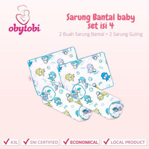 Sarung Bantal baby set isi 4 Obytobi