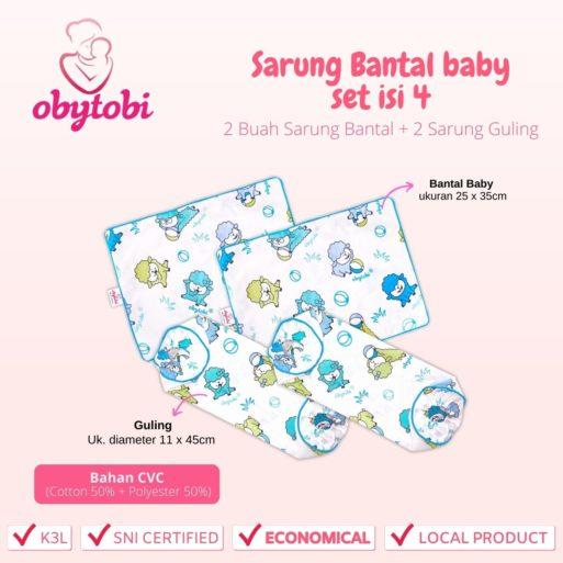 Sarung Bantal baby set isi 4 Ukuran Obytobi