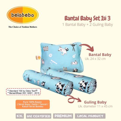 Ukuran Bantal Baby Set Isi 3 Belabebo