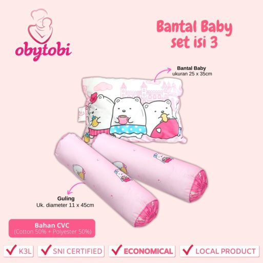 bantal baby set isi 3 1
