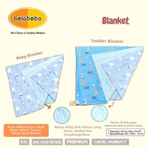 Selimut Belabebo untuk bayi dan balita