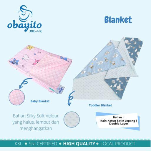 detail ukuran blanket obayito